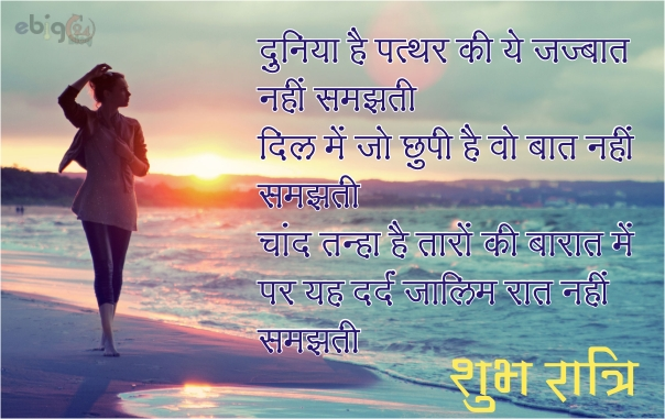 शुभ रात्रि / good night message 21 – good night shayari